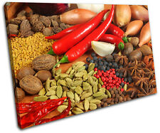 Spices Peppers Food Kitchen SINGLE LONA pared arte Foto impresion