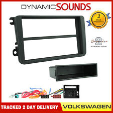 VW GOLF 2003 to 2009 Black Single or Double Din Fitting Kit Adaptor Fascia