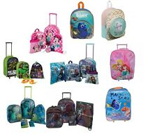 Disney Kids Travel Set Luggage Cabin Bag Wheeled Trolley Backpack Suitcase Gift