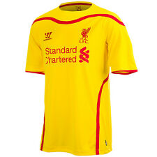 Warrior FC Liverpool LFC Herren Fußball 2014/15 Away Trikot Game Jersey gelb