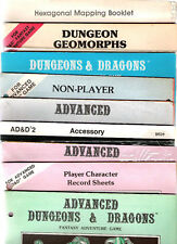TSR ADVANCED DUNGEONS & DRAGONS A D&D PC & NPC SHEETS NON PLAYER CHARACTER SHEET