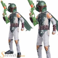 Boys Boba Fett Costume Fancy Dress Star Wars Halloween Force Awakens Outfit