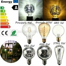 E27 1/4/5/40W Vintage Antique Edison Filament COB LED Bulb Light Lamp 110V-220V