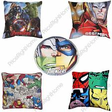 MARVEL AVENGERS CUSHIONS 100% OFFICIAL KIDS BOYS - IRON MAN HULK CAPTAIN AMERICA