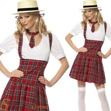 Ladies Sexy Schoolgirl Fancy Dress Costume Tartan School Girl Uniform Outfit