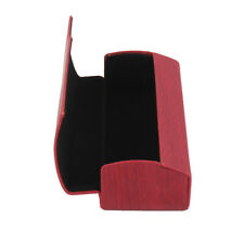 Portable Wood Grain Leather Hard Glasses Case for Sunglasses Eyewear Spectacles