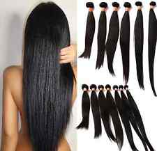 1 PC Straight  Brazilian Peruvian Virgin Hair Human Hair Extensions Weave Weft