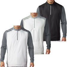 Adidas Golf 2016 Mens Club Half Zip Wind Vest Windproof Pullover Top