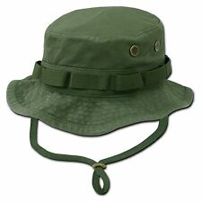 Olive Green Military Boonie Hunting Army Fishing Bucket Jungle Cap Hat S M L XL