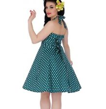 Dolly and Dotty PENNY Retro Dress Swing   Peacock Teal Polka Dot All Sizes