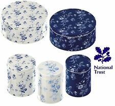 National Trust Country Kitchen Blue Floran Set 2 Cake Tins or 3 Storage Tins Jar