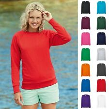 1a Damen Lady Fit Sweatshirt Sweat Raglan Pullover Fruit of the loom Lightweight