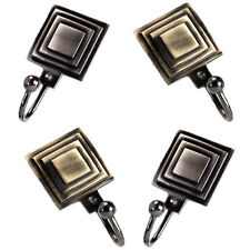 Swish Signature Ziggurat Metal Curtain Tie Back Hooks, Small, Pair