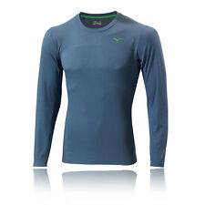 Mizuno Breath Herren Thermo Laufshirt Jogging Sport Top Funktionsshirt Blau