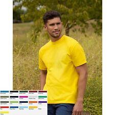 1a 10 x T-Shirt Shirts Herren Mann Kurzarm Fruit of the loom Full Cut Original T