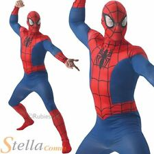 Mens Spiderman Costume Adult Skin Official Marvel Superhero Fancy Dress Outfit