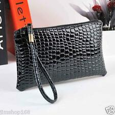UK Women Handbag Bag Crocodile Leather Clutch Handbag Messenger Bag Coin Purse
