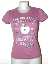 SCONTO 30% PENN-RICH by WOOLRICH T SHIRT DONNA COTONE Tg XS S M STAMPA BIG APPLE