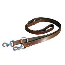 REAL LEATHER POLICE DOG TRAINING LEAD FITTED WITH CHROME IN BROWN COLOR
