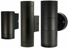 Black Stainless Steel Outdoor Wall Light GU10 IP65 4w 5w 6w Single or Up Down