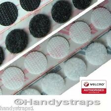 VELCRO® Brand coins 22mm PS14 SELF ADHESIVE Stick on tape Discs Circles