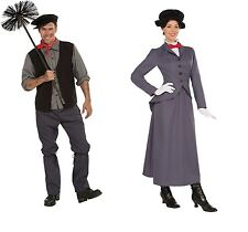 Victorian Mary Poppins Nanny Chimney Sweep Bert Fancy Dress Costume Mens Ladies