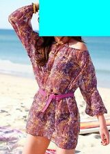 CHILLYTIME - CARMEN-BLUSE  bordeaux-gelb-orange STRAND-TUNIKA GR.40 42 44 46 NEU