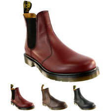 Ladiess Dr Martens Airwair Leather Chelsea Style Low Heel Ankle Boot All Sizes