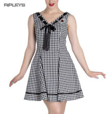 HELL BUNNY 50s Mini Summer Dress LADYBIRD Gingham Vintage All Sizes