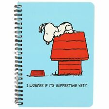 Peanuts Vintage A5 Notebook Lined Paper Pad Classic Snoopy Design Home School