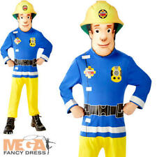 Fireman Sam Boys Cartoon Fancy Dress Childs Kids Firefighter Uniform Costume