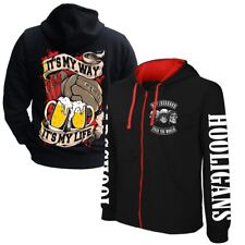 Kapuzensweat Jacke Hooded Zip Football MY WAY MY LIFE Hooligans Ultras Derby Fan