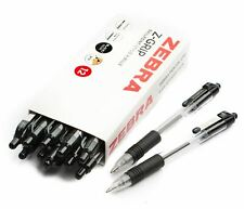 Zebra Z-Grip Retractable Ballpoint Ball Pen 1.0 Medium - BLACK