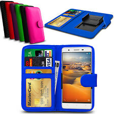 Clip On PU Leather Flip Wallet Book Case Cover For Oukitel Universe Tap (U8)