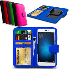 Clip On PU Leather Flip Wallet Book Case Cover For Xiaomi Redmi Note Prime