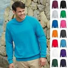 1a Fruit of the loom Herren Sweatshirt Raglan Pullover 240g/qm Shirts M L XL XXL