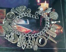 Magick Spells Charm Bracelet Psychic Crystal Ball Goddess Blessed Be Earth Witch