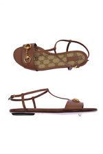 Scarpe Sandali Gucci Sandals Shoes % Pelle ITALY Donna Marrone 384829A3N00-2535