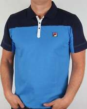 Fila Vintage Corsair Polo Shirt in Ocean Blue - retro tennis Borg Settanta 80s