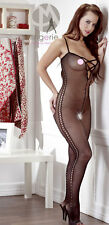 Completino Intimo Donna Sexy Mandy Mystery Catsuit with Lacing Black