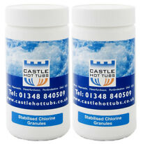 2 x Grade A Castlehottubs 1KG Chlorine Granules Hot Tub Swimming Pool Spa 2kg