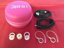 Value Pack Pink Case Lanyard USB Cable Ear Hooks Ear Gels For Motorola Headset