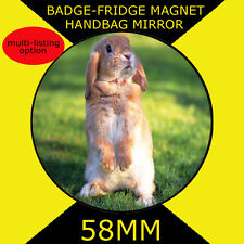 BIG EARS RABBET- PART OF OUR WILDLIFE COLLECTION 58 MM BADGE-FRIDGE MAGNET