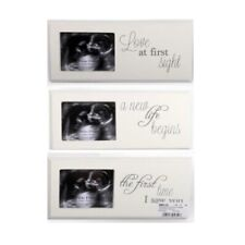 White Wooden Photo Frame Plaque Ultrasound Baby Scan Picture Newborn Gift