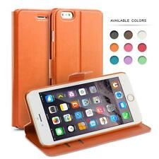 PU Leather Slim Wallet Flip Case Cover for Many iPhone Models