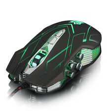 10D 4000DPI Ottico LED Con filo Pro Gaming design ergonomico Mouse per Laptop PC