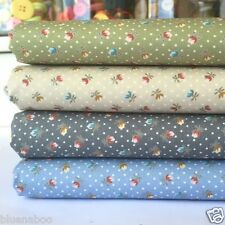 Tiny Tulip 100% cotton fabric 4 colours sold per fat quarter half metre or metre