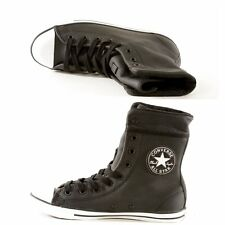 CONVERSE 540422C ALL STAR DONNA sneakers scarpe alte stivaletto pelle black
