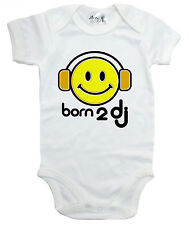 "Dirty Fingers "" BORN TO DJ "" TUTINA BAMBINO TUTINA BODY CUFFIE MUSICA neonato"