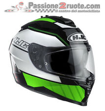 Helmet integrale Hjc Is-17 Is17 Tridents white green moto integral helm casque